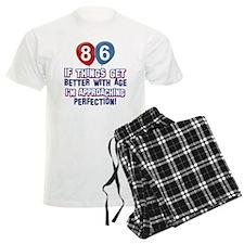 86 year Old Birthday Designs Pajamas