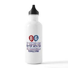 86 year Old Birthday Designs Water Bottle