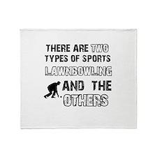 Lawn Bowling designs Throw Blanket