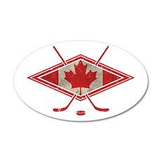 Canadian Hockey Flag Wall Decal