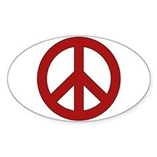 Crimson Peace Sign Decal