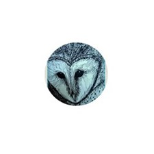 barn owl, wildlife art! Mini Button (10 pack)