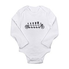 cute owls on tandem bicycle Body Suit