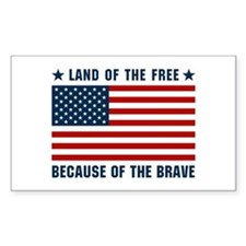 Land of the Free Flag Decal