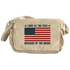 Land of the Free Flag Messenger Bag