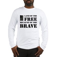 Land of the Free Camo Long Sleeve T-Shirt