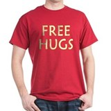 Free Hugs Dark Red T-Shirt