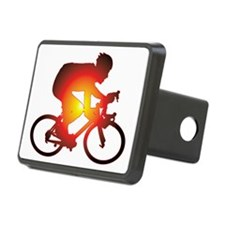 Sunset Bicycle Rider Hitch Cover