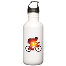 Sunset Bicycle Rider Water Bottle