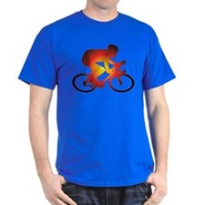 Sunset Bicycle Rider T-Shirt