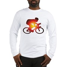 Sunset Bicycle Rider Long Sleeve T-Shirt