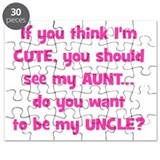 Think Im Cute - Aunt/Uncle Puzzle