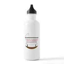 Pink Due In December Water Bottle