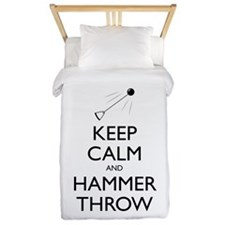 Keep Calm and Hammer Throw - Twin Duvet