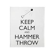 Keep Calm and Hammer Throw - Throw Blanket