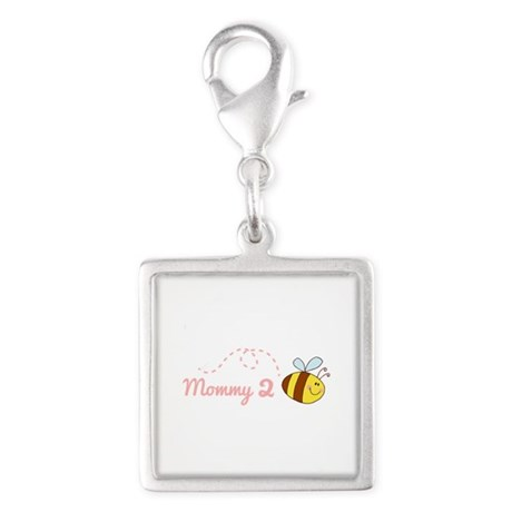 Mommy 2 Bee Square Charm