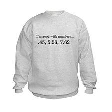 Good with numbers shirt Sweatshirt