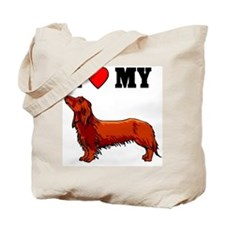 I (Heart) My Dachshund, Tote Bag