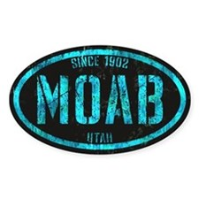 Moab Black Ice Grunge Decal