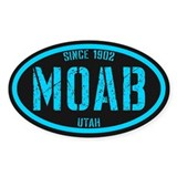 Moab Black Ice Bumper Stickers