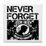 POW/MIA Never Forget Tile Coaster