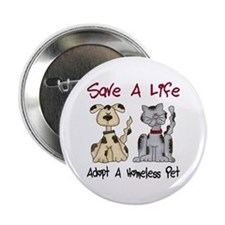 "Adopt A Homeless Pet 2.25"" Button (10 pack)"