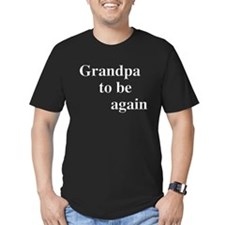 Grandpa To Be Again Black T-Shirt