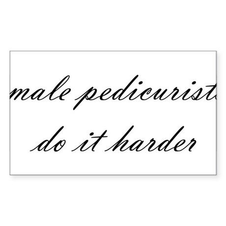 Male Pedicurist Rectangle Sticker