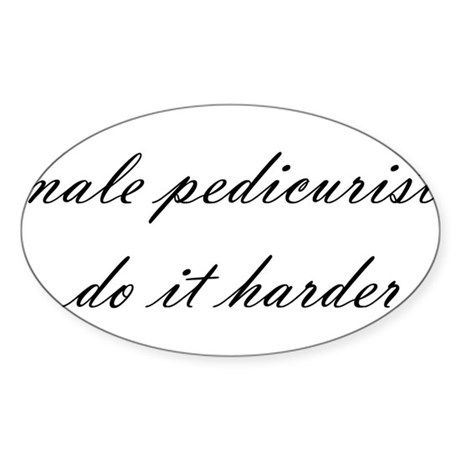 Male Pedicurist Oval Sticker