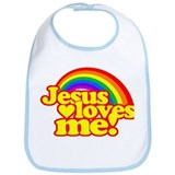 Jesus Loves Me Rainbow Bib
