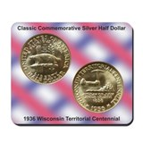 Wisconsin Territorial Coin Mousepad