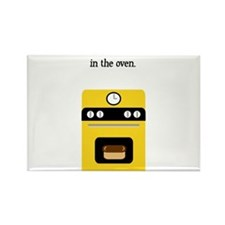 bun in the oven yellow.png Rectangle Magnet (10 pa