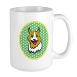 Retro Green Corgi Mug