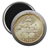 Worlds Columbian Expo Coin Magnet
