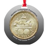 Worlds Columbian Expo Coin Ornament