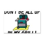 All Up In My Grill Rectangle Car Magnet