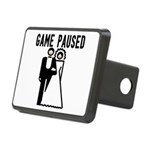 Game Paused Rectangular Hitch Cover