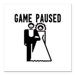 Game Paused Square Car Magnet 3