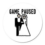 Game Paused Round Car Magnet