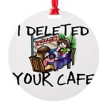 Deleted Cafe Round Ornament