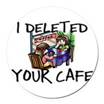 Deleted Cafe Round Car Magnet