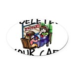 Deleted Cafe Oval Car Magnet