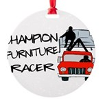 Champion Furniture Racer Round Ornament