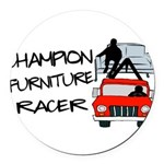 Champion Furniture Racer Round Car Magnet