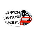 Champion Furniture Racer Oval Car Magnet