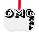 Oh My Geek Picture Ornament