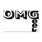 Oh My Geek Rectangle Car Magnet