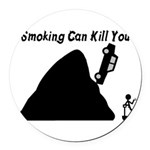 Smoking Can Kill You Round Car Magnet