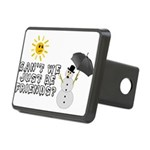 Just Be Friends Rectangular Hitch Cover