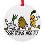 Veggie Runs Round Ornament